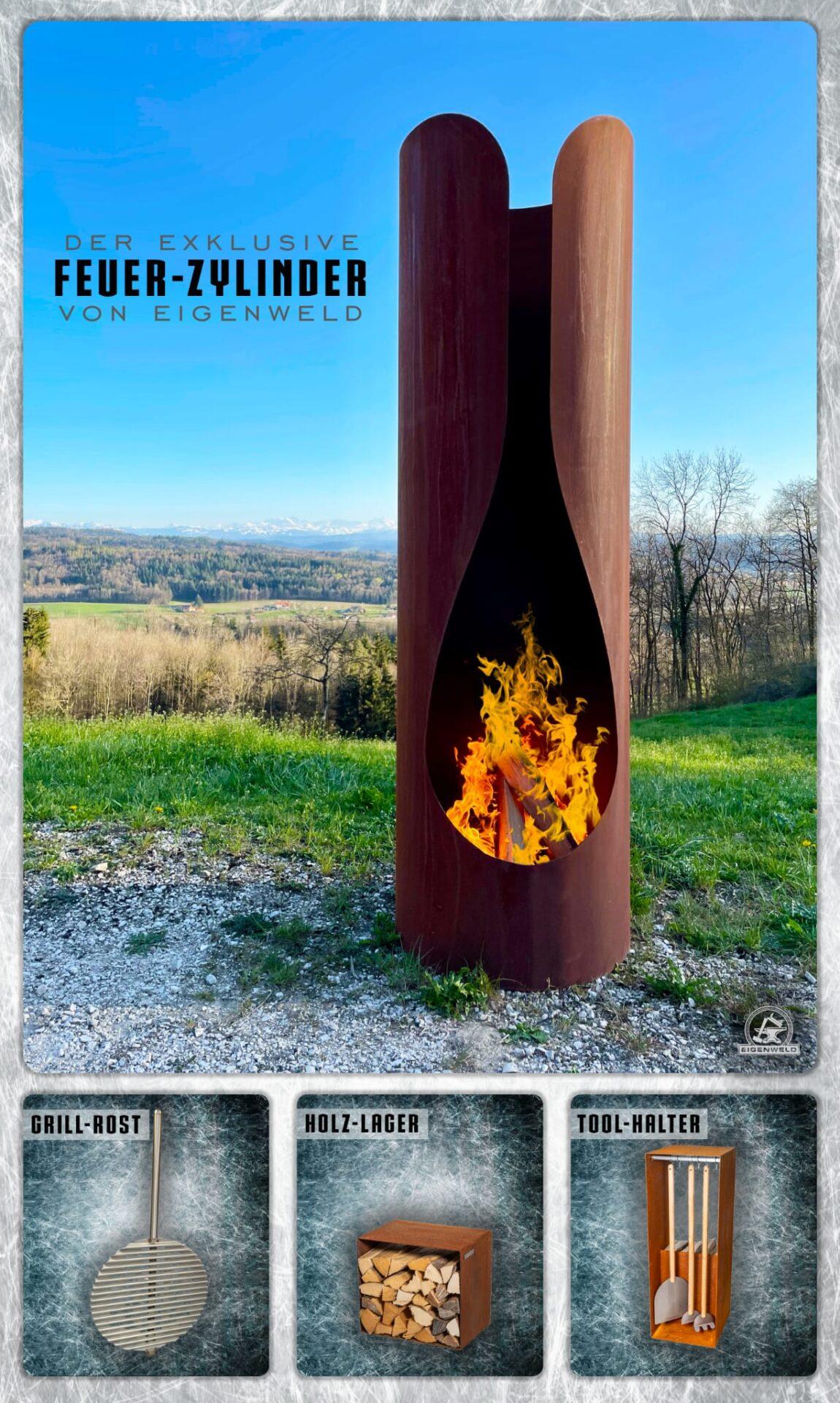 feuerzylinder feuerstelle